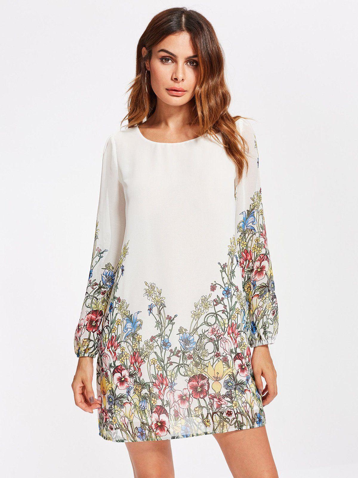 49b172656a Dresses by borntowear botanical print tunic dress dresses