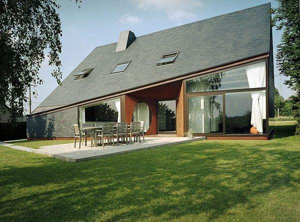 Delsaute by pierre hebbelinck atelier d 39 architecture for Huizen architectuur