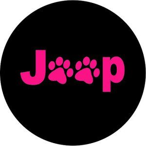 Pink Jeep Dog Paws Tire Cover Jeep Jeepwrangler Tirecovers