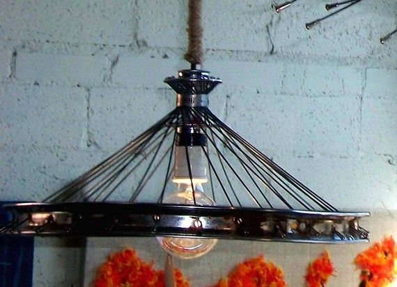 bicycle wheel chandelier - Google Search | outdoor lighting ...