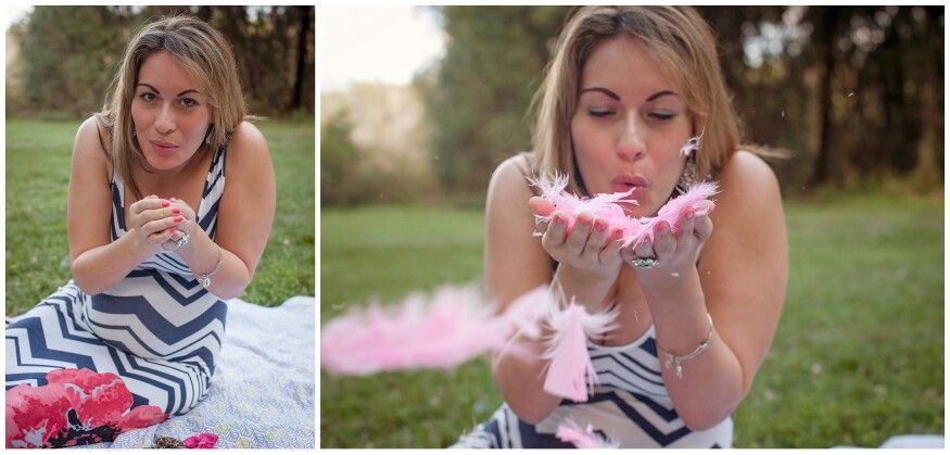 Feathers pink and girl
