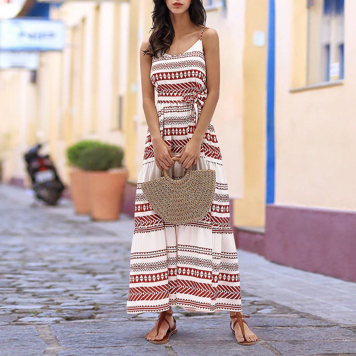 Gorgeous Cotton And Linen Bohemian Floral Printed Vacation Dress Cupstime Vacation Dresses Casual Bohemian Print Dress Vacation Dresses [ 1200 x 1200 Pixel ]