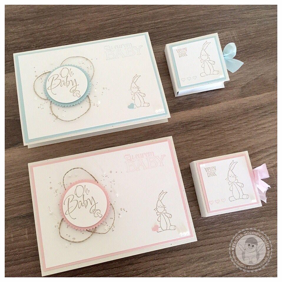 stampin 39 up babykarte mit verpackung bellas. Black Bedroom Furniture Sets. Home Design Ideas