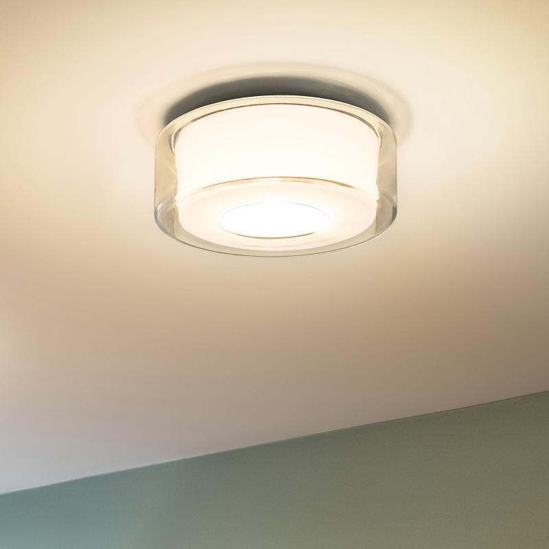 Serien Lighting Curling LED Deckenleuchte, opal zylindrisch