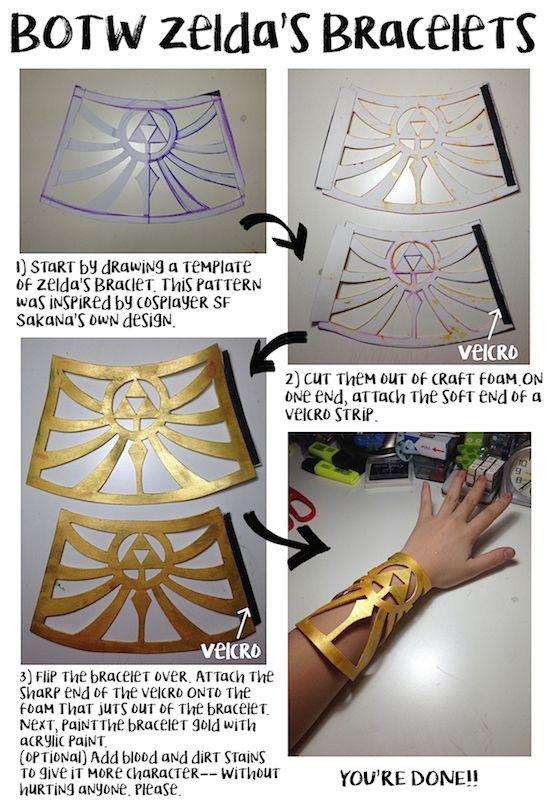 How to make BOTW Zelda\u0027s Bracelets , by Utterlyorigami art