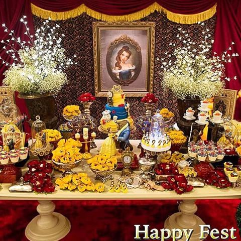 Resultado De Imagen Para Candy Bar De La Bella Y La Bestia