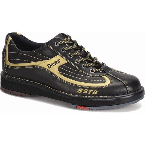 Dexter SST 8 Black Gold Wide Mens Bowling Shoes