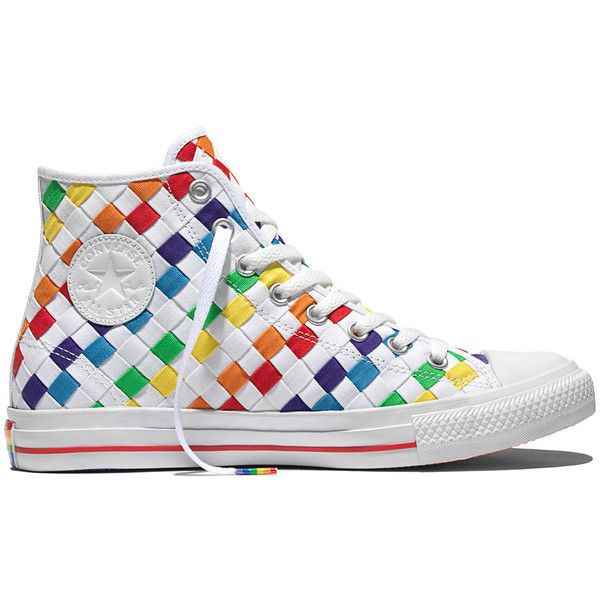 Converse Chuck Taylor All Star Pride – white multi white Sneakers ( 85) ❤  liked on Polyvore featuring shoes 1efbdc290