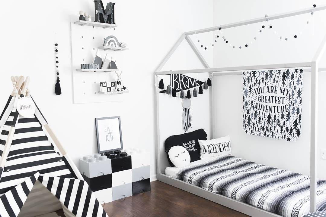 Inspiration From Instagram Toddler Boys Room Ideas Grey Black And White Boys Room Scandinavian Style Monochrome Toddler Boys Room Big Kids Room Boy Room