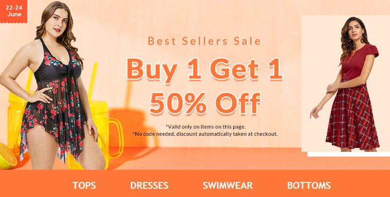 Rosegal Coupon Rosegal Best sellers sale buy 1 get 1 50% ...