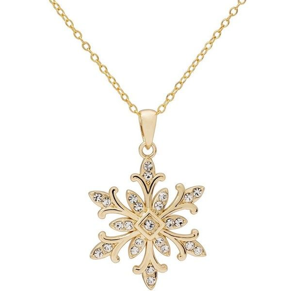 22mm Silver Yellow Plated Snowflake Charm