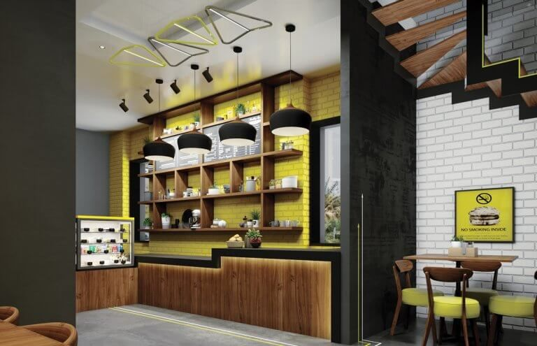 Modern Fast Food Restaurant Interior Design Hail Saudi Arabia Cas Restaurant Interior Design Restaurant Interior Modern Restaurant Design