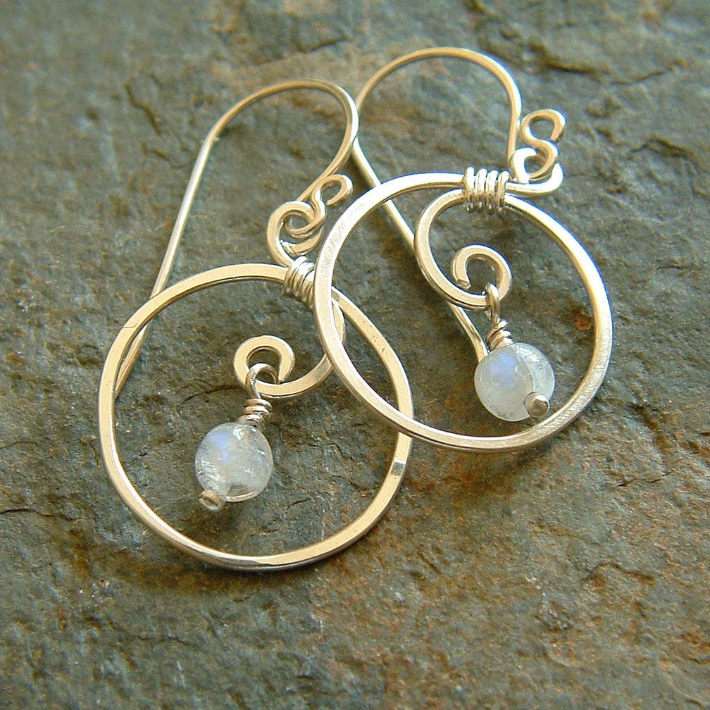 Small Silver Hoop Silver Coiled Hoops Sterling by ArtistiKat