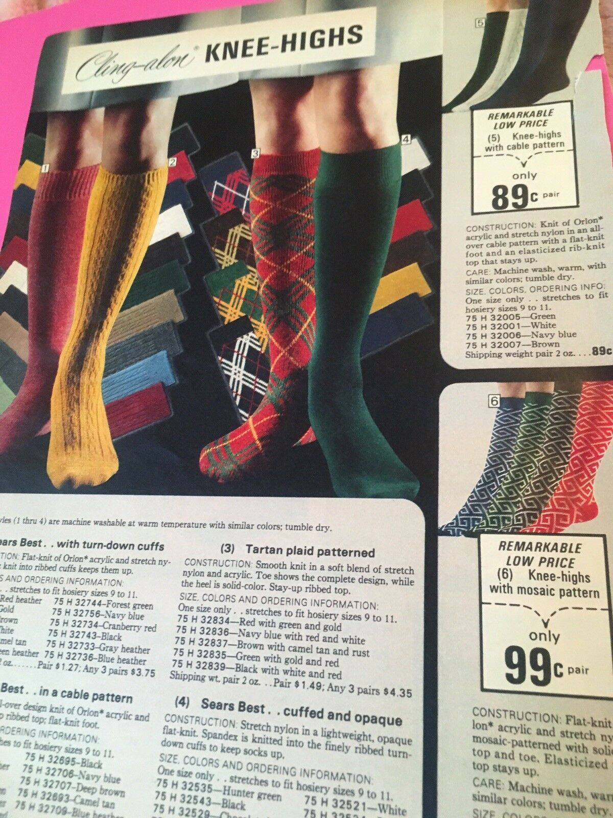 a49763801 Lot Vintage Catalog Clippings Women Girls Bodysuits Knee Highs Leotards  Sears