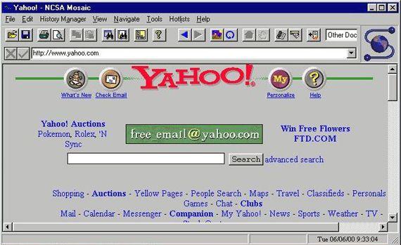 Yahoo portal in mosaic navigator web design history historia del yahoo portal in mosaic navigator web design history historia del diseo web urtaz Gallery
