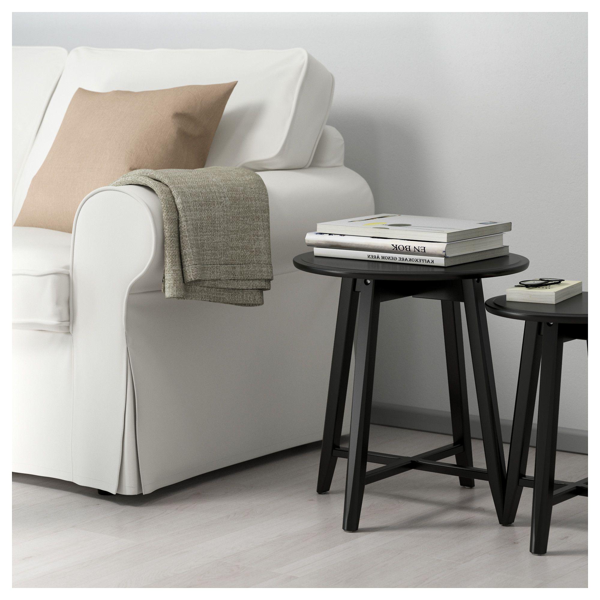 Kragsta Nesting Tables Set Of 2 Black Nesting Tables Coffee Table Ikea