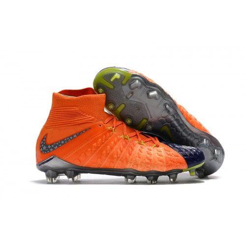 Nike Hypervenom Phantom III DF FG Orange Blue Gray soccer boots ... b0dade707d47e