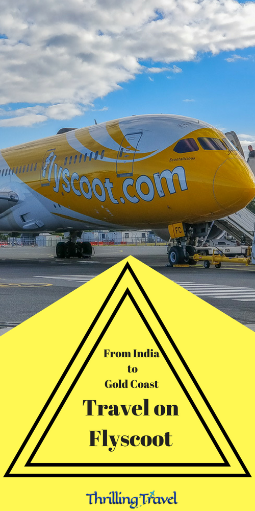 From India to Gold Coast with Flyscoot Airlines - Thrilling Travel  My recent travel to Gold Coast from India, specifically Bengaluru had me discover a new and economical way of reaching Australia. Here is how you can do it too - with Flyscoot Airlines - a budget airlines under Singapore Airlines. My review of Flyscoot will tell you what you can expect from this airlines.  #Flyscoot #BudgetAirlines #LowCostAirFare #ThrillingTravel #Travel #Australia #India #GoldCoast