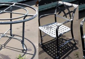 refurbish aluminum patio furniture