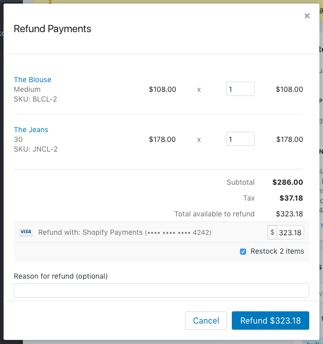 Refunding and canceling orders Refund, Order, Cancelled