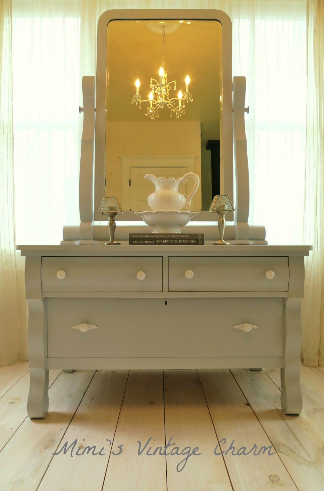 Mimi 39 s vintage charm empire dresser and a custom bathroom Empire bathrooms