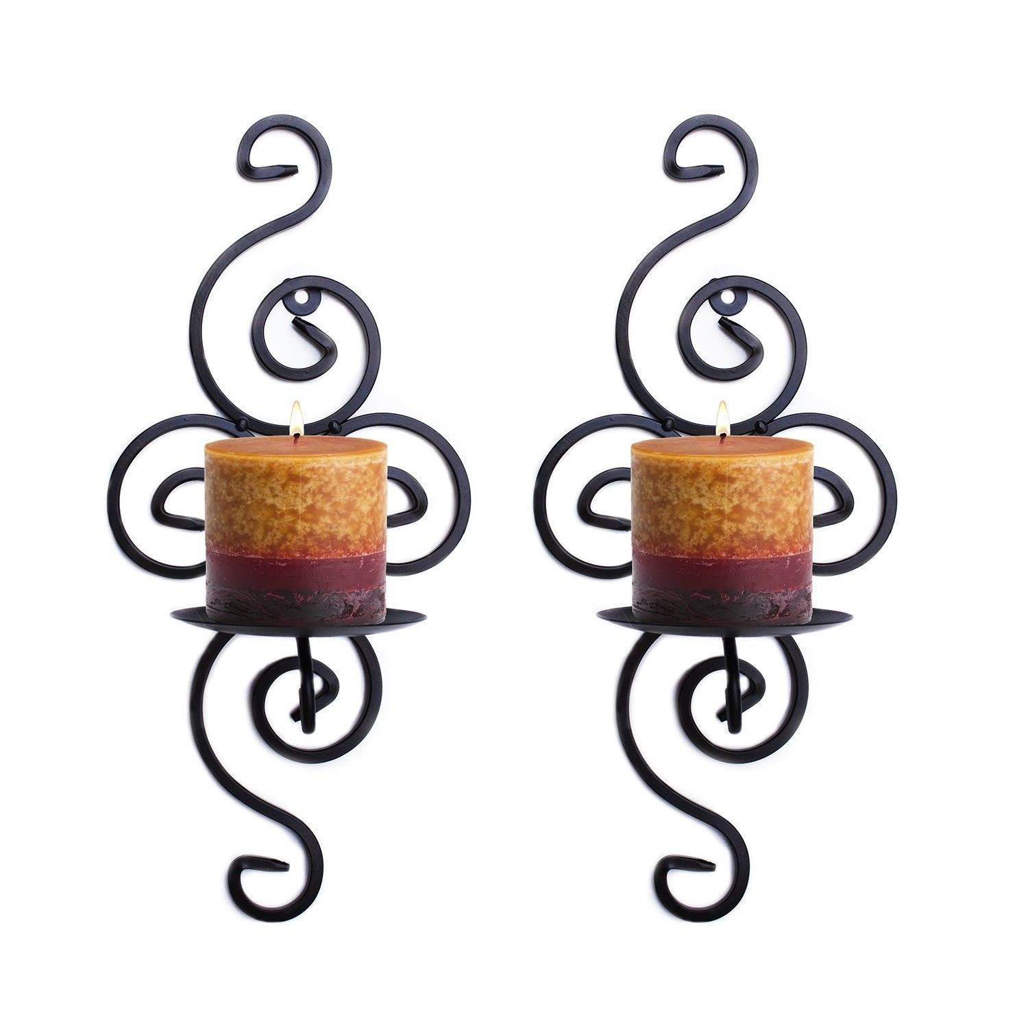 elegant candle wall sconce holder modern set pair decor