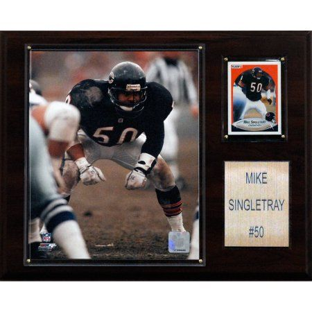 more photos 4b6e7 0a371 C Collectables NFL 12x15 Mike Singletary Chicago Bears ...