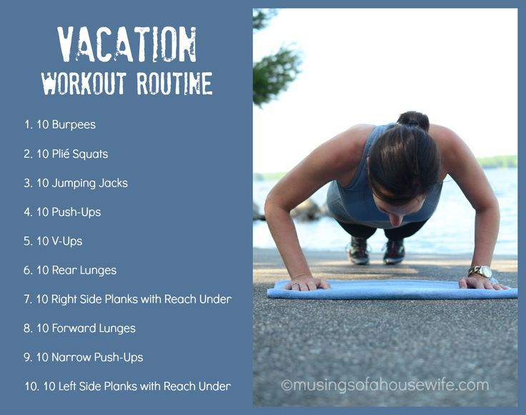 10 in 10 Vacation Workout Routine