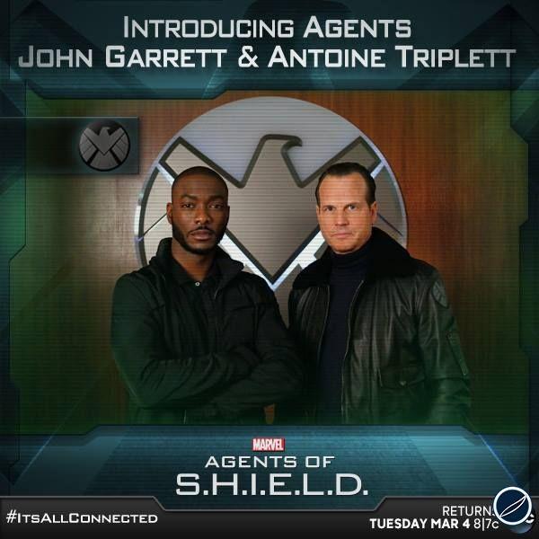 Foto Promozionale Da Agents Of S H I E L D Che Mostra I Due Nuovi Agenti Del Serial John Ga Agents Of Shield Marvel Agents Of Shield Marvels Agents Of Shield