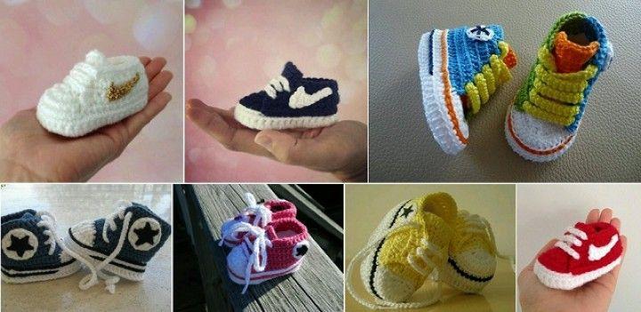 06830c1973330 Ako na háčkovanie obuvi pre bábätká s dizajnom Nike? | napady na ...