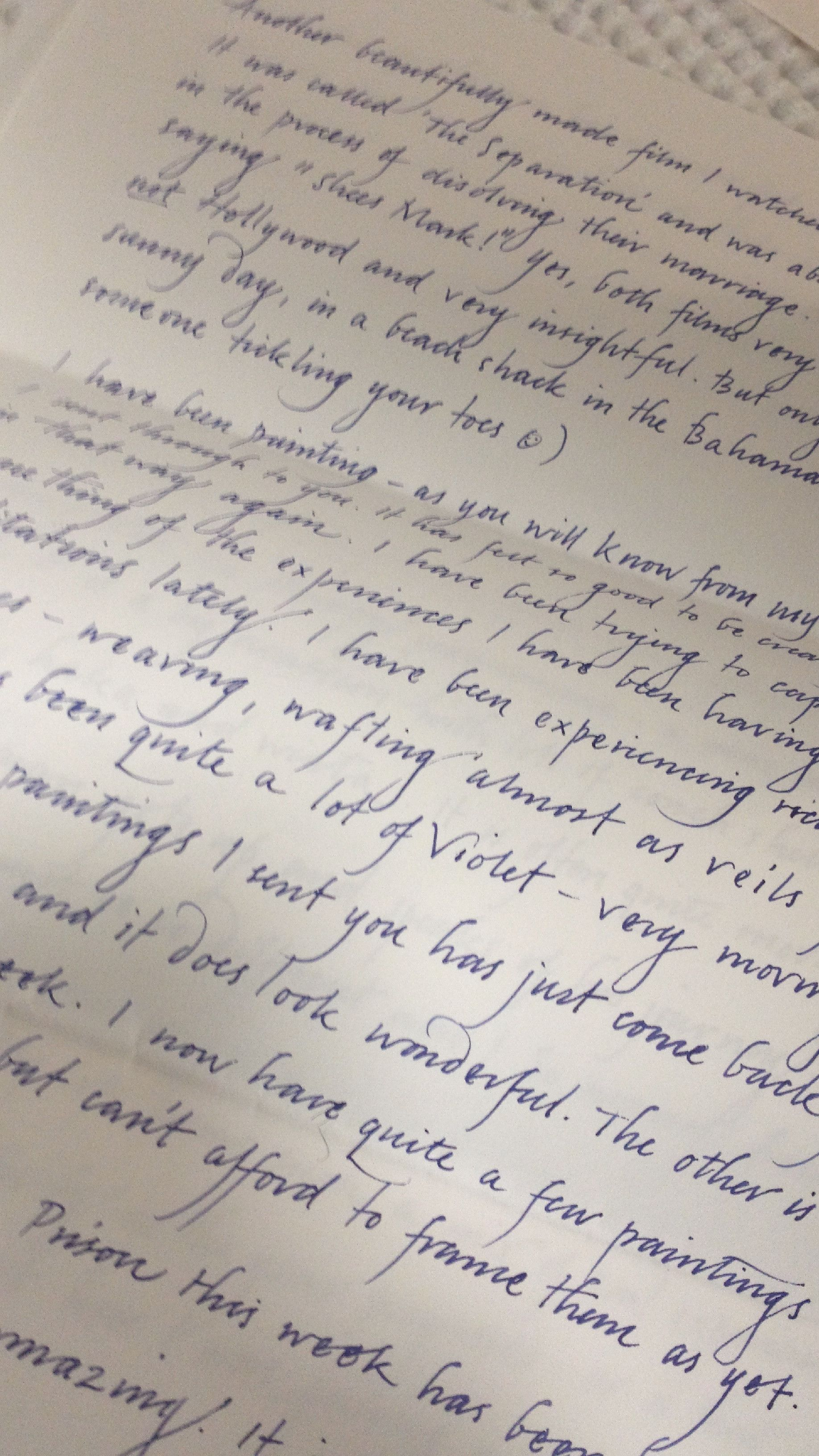 Graceful handwriting (my friend\'s pen-pal is an artist ...