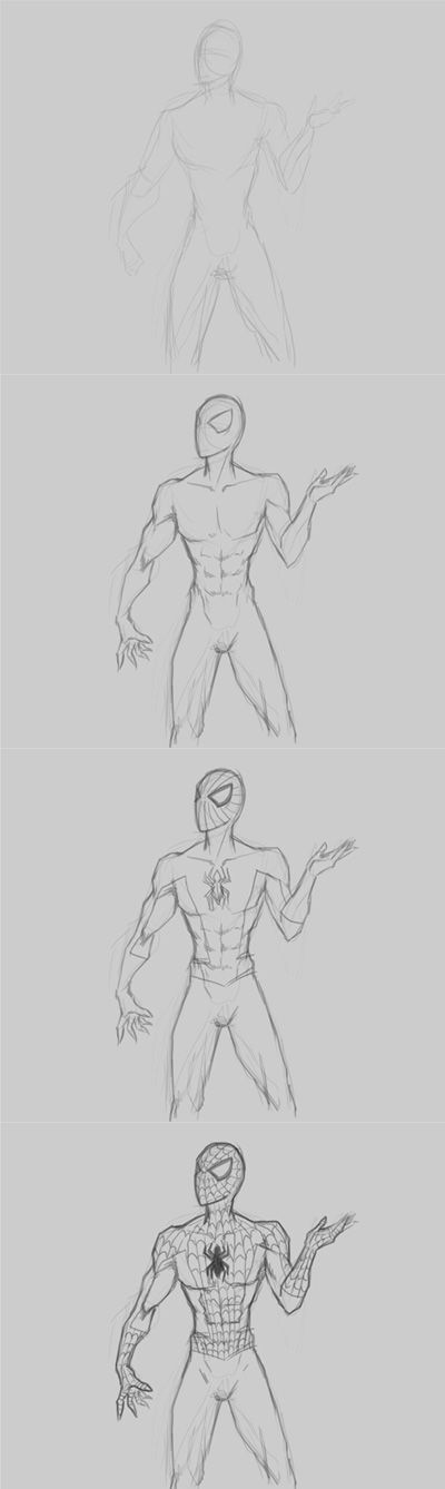 How to draw Spiderman | Anatomía | Pinterest | Dibujo, Dibujar y Bocetos