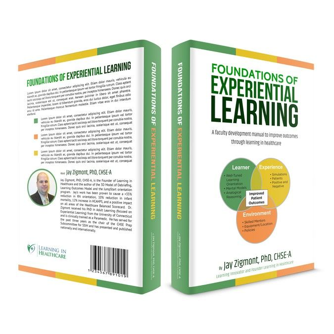 eBook and print book Cover - Foundations of Experiential Learning for Healthcare by 9greenstudio
