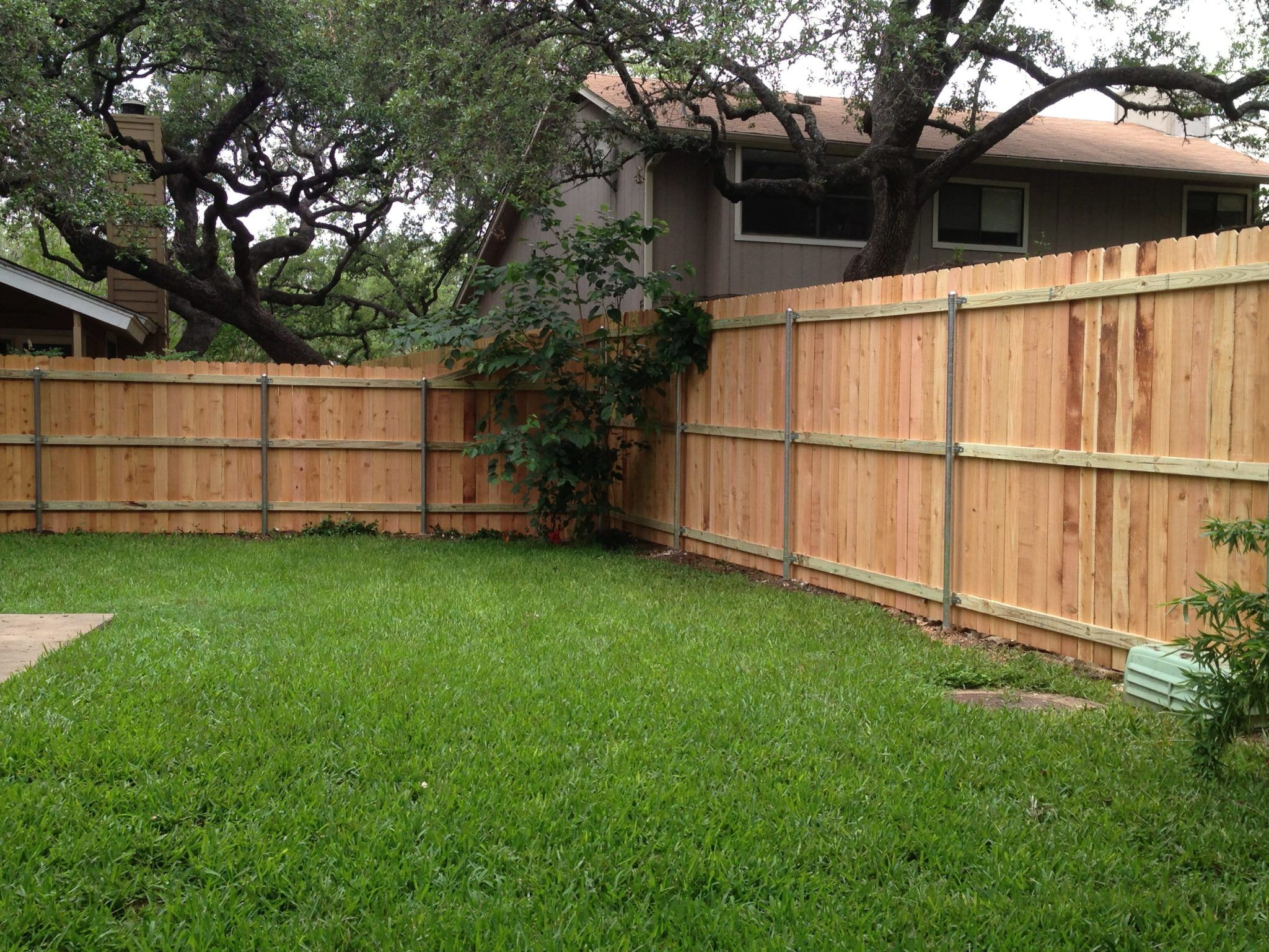 6 Foot To 8 Foot Privacy Fence On Steel Posts