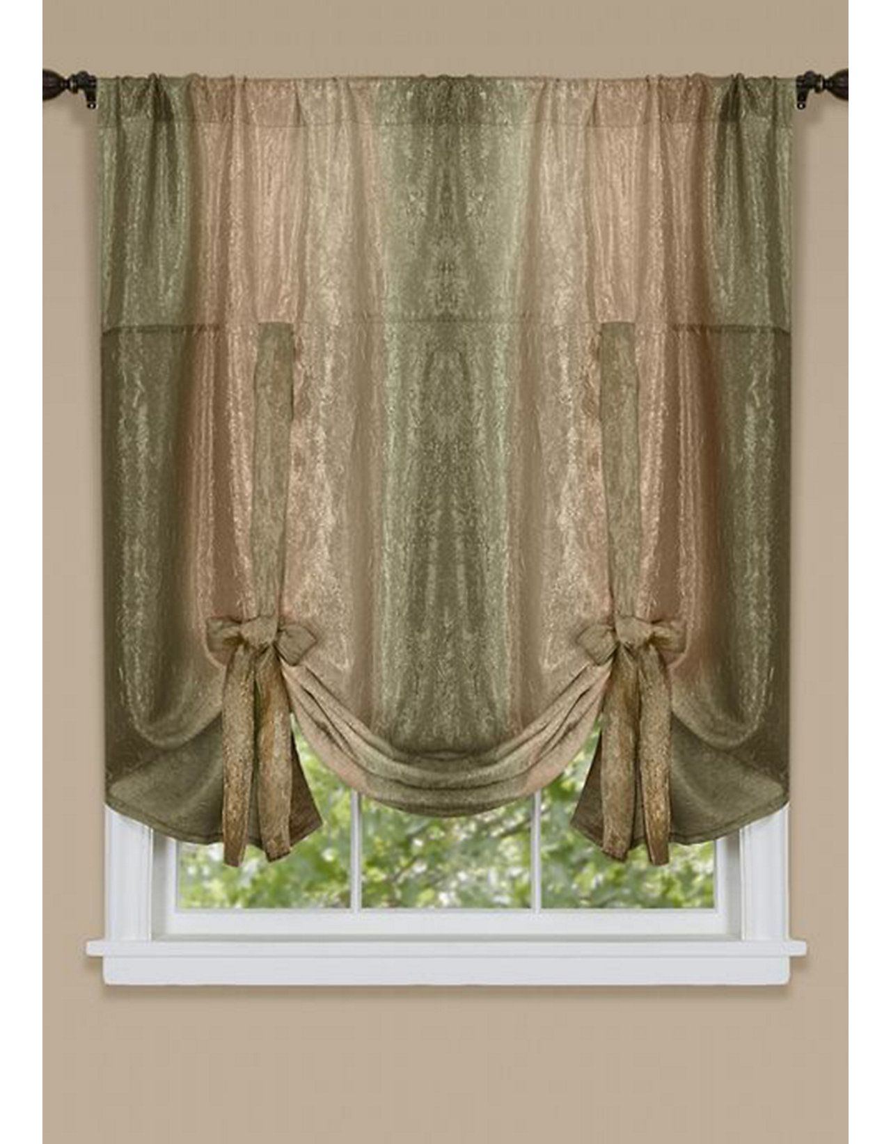 Achim Ombre Window Curtain Tie Up Shade Tie Up Curtains Tie Up