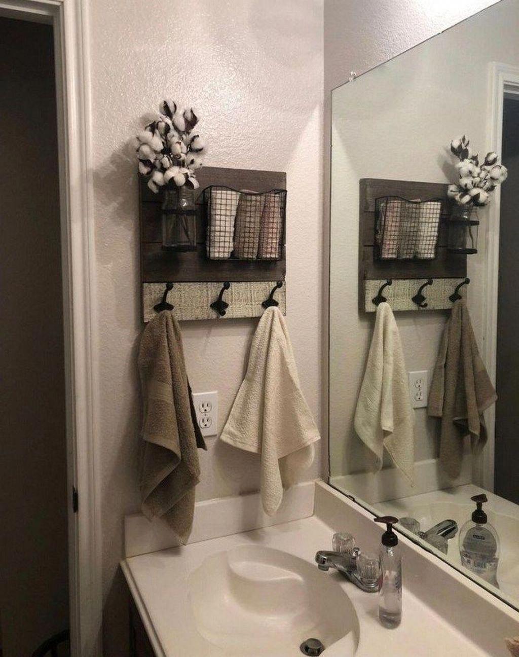 Bathroom Categories : Farmhouse. Decor. Bathroom. Beautiful. in 2020 | Small  bathroom storage, Diy bathroom storage, Small bathroom decor
