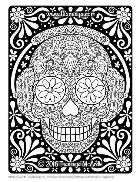 sugar skulls coloring book by thaneeya mcardle