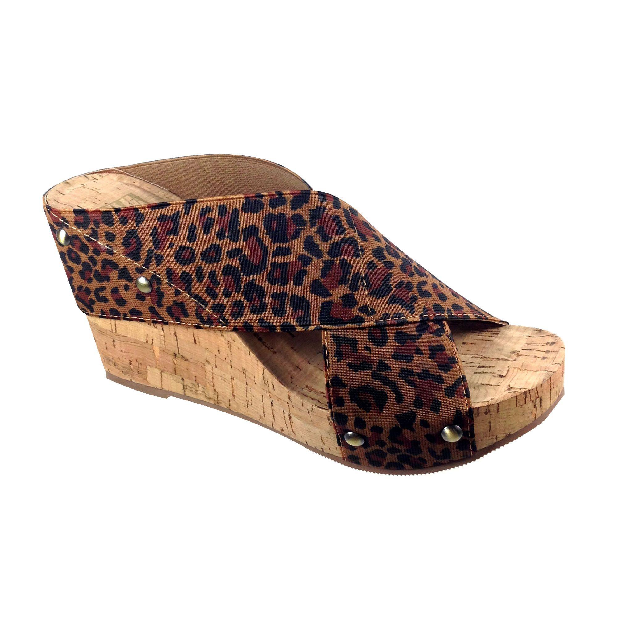 Bumper Angela01 Women's Wedge Heel Slip On Sandals
