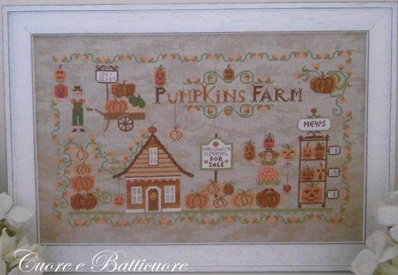 Schema Pumpkins Farm (comprendente scritta in inglese, italiano e francese)- Formato cartaceo o PDF