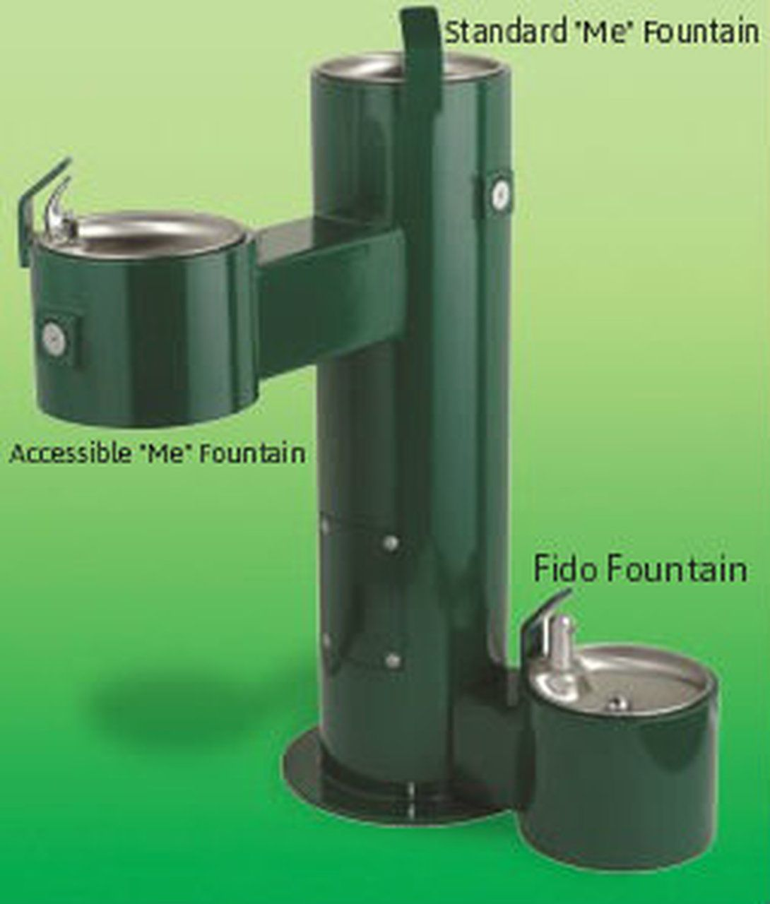 Barkpark fido me fountain with accessible basin basin