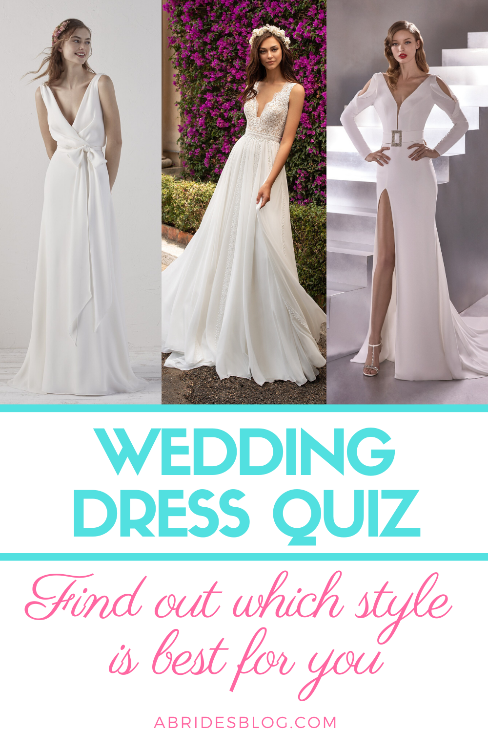 Wedding Dress Quiz What Dress Style Should You Wear On Your Wedding Day In 2020 Wedding Dress Quiz Wedding Dress Types Online Wedding Dress