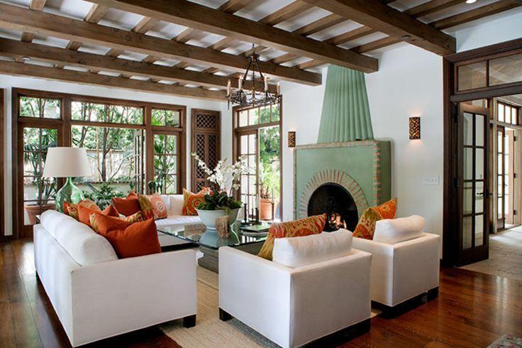 Spanish Modern Decor Interior Ideas ... Fireplace Great Ideas