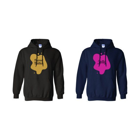 Peanut Butter and Jelly Hoodie Hoodies Hoody Matching Set Besties BFF/'s Friends