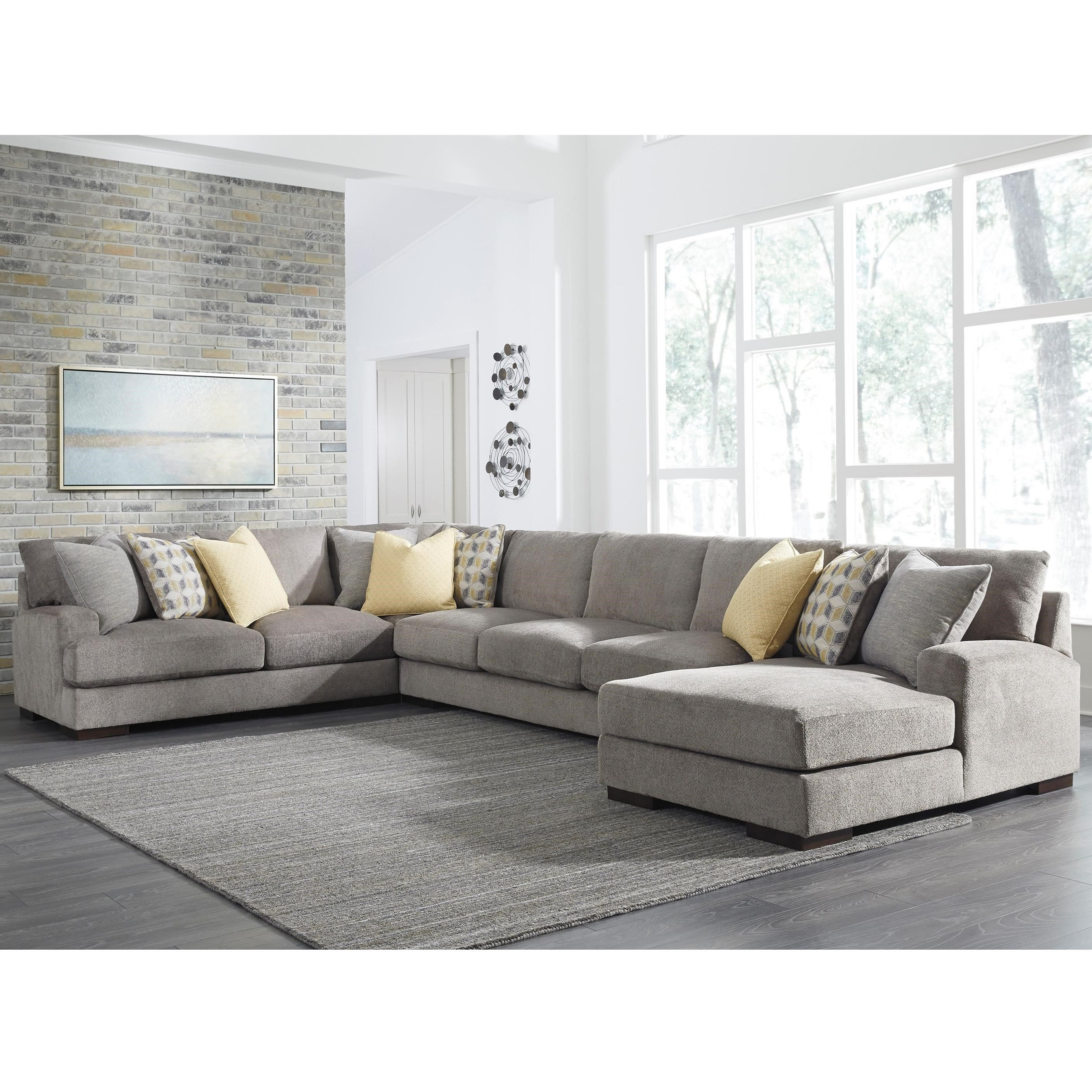 Best Fallsworth 4 Piece Sectional By Benchcraft At Miskelly Furniture Furniture Sectional Sofa 400 x 300