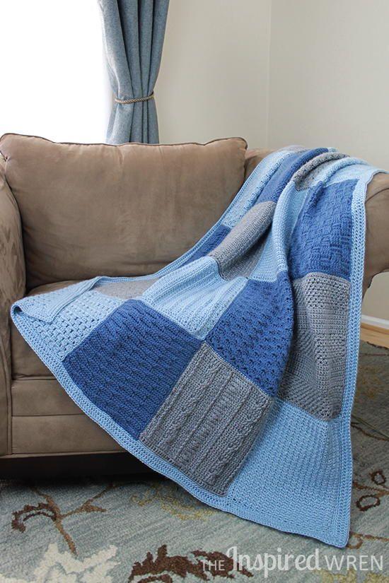 Crochet Along Afghan Sampler | Manta, Cobija y Cosas para hacer