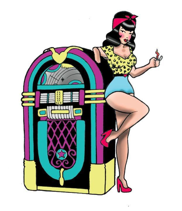 Line Art Jukebox : Pin up juke box tattoo idea pinterest flash tattoos