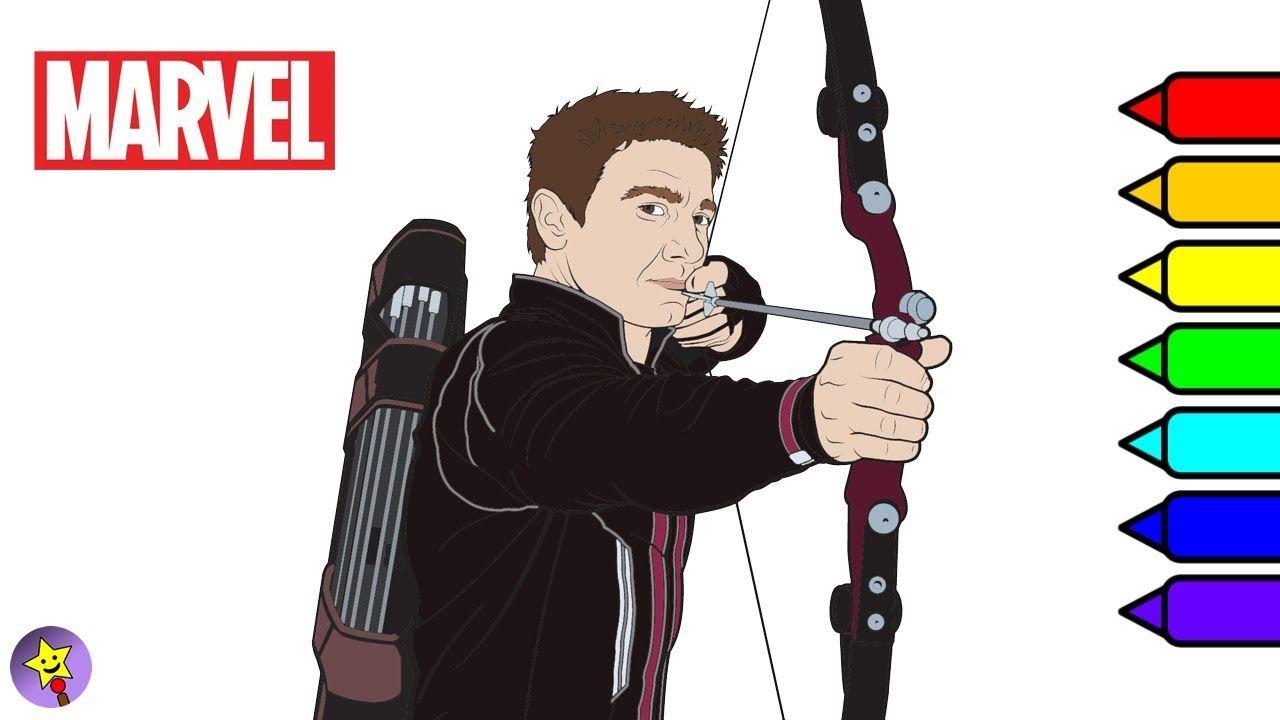 Digital coloring of Hawkeye Hawkeye coloring book page