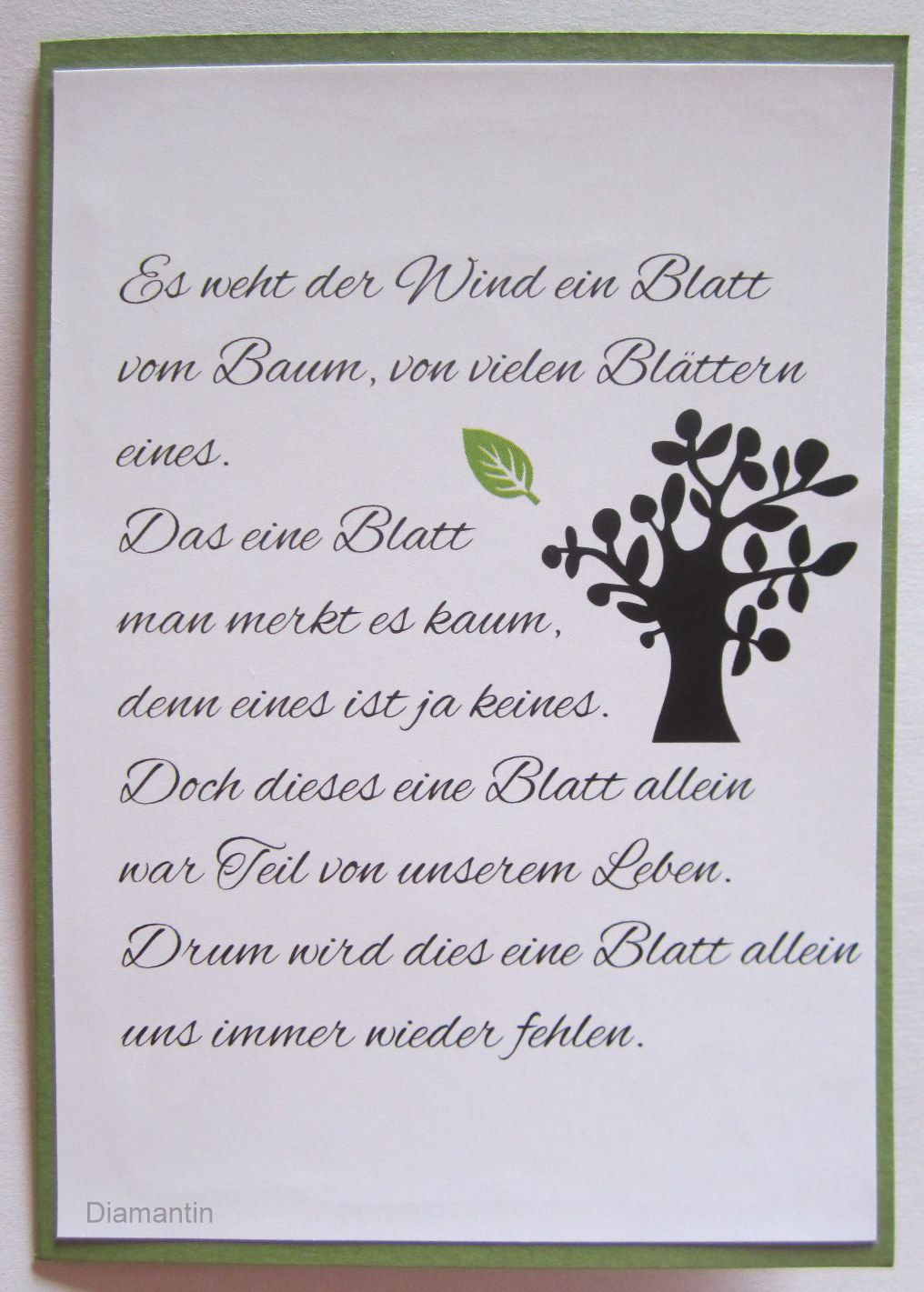 Trauerkarten Kurze Beileids Sprüche Gedichte Trauer