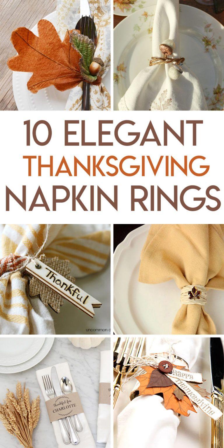 10 thanksgiving napkin ring tutorials #napkinrings
