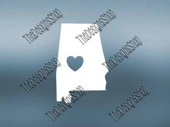 Alabama Home State Svg Dxf Pdf Jpg Cut File  by TheDesignsShop